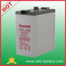 Batería de almacenamiento estacionario Koyama 2V 200ah para sistema solar