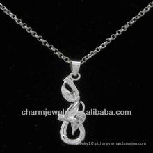 2013 sólida CZ prata pingente de jóias PSS-022