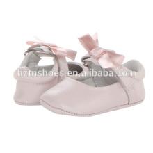 Neue Modell Baby Mädchen Leder Schuh Großhandel Günstige Ballerina Flats