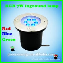 neue Produkte auf der Suche nach Distributor rot blau grün rgb führte unterirdische Beleuchtung 7w ip65
