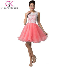 Grace Karin ladies colorful Ball Sleeveless Lace arty Gown Short Cocktail Party Dresses CL6123-3#