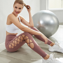 Women Athletic Wear Yoga Pants high waisted workout leggings sports wear gym fitness clothing Sexy Mesh textured leggings