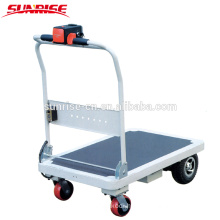 High working foldable 4wheel efficiency cheap price electric platform cart