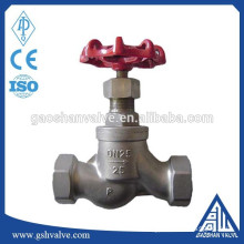 screwed end water globe valve stainless steel 316