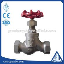 Parafuso final água globo válvula aço inoxidável 316