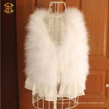 Vente en gros Robe de fourrure en fourrure blanc à bas prix avec bord de fil