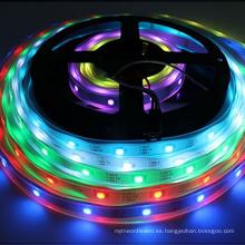 Tira de luz LED 3.2ft WS2812 1m PCB Blanco Tira de led individualmente direccionable 30 píxeles