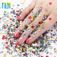 Fabricação de alta qualidade plana cristal AB SS12 não hot fix strass julgamento pequena ordem de cristal strass nail art