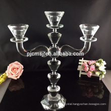 Wholesale Wedding Decorative Crystal Tall Candle Glass Holders