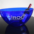 Wholesale Custom Logo oval Plastic Ice Buckets