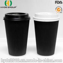 Стены Двойника Пульсации Изолированные Бумаги Кофейные Чашки