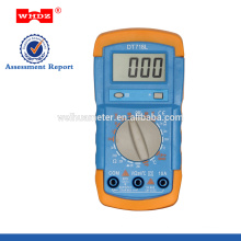low price digital multimeter DT718L with Temperature Backligt Battery Tester