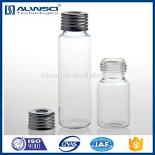 Flacon de verre transparent de 20 ml Vis de la flasque de l'espace de tête Flacons GC de 18 mm pour analyse de laboratoire