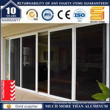 Aluminium / Aluminium Doppelverglasung Patio Außenglas Schiebetür