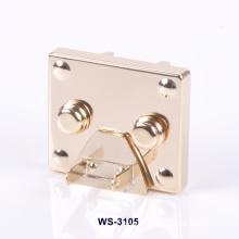 Gold Plating Zinc Alloy Logo Custom Lock for Bags