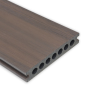 Waterproof Circular Holes Plank Co Extrusion WPC Decking