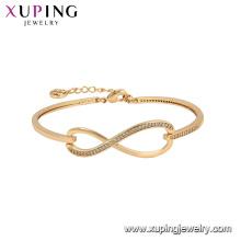 52127 xuping indiano banhado a ouro dubai pulseiras de moda de cor de ouro 18k