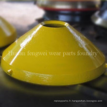 Pièces de moulage en acier au manganèse élevé pour concasseur à cône