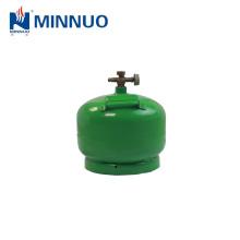 2 kg, 4.8l vazio cozinhar gpl, propano, cilindro de gás butano, garrafas para a África e mercado do Oriente médio