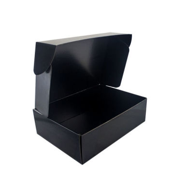 Custom Panton Printing Black Corrugated Box Packaging