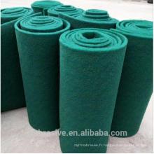 Tampon à récurer abrasif au carbure de silicium de couleur verte