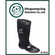 winter warm durable men's pvc high rain boots