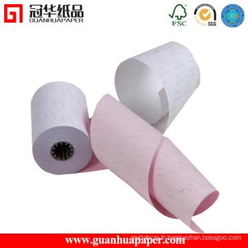 Rouleau de papier autocopiant ISO9001 pour machine POS