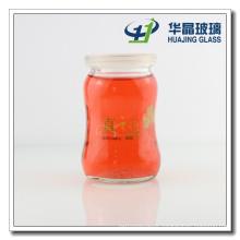 250ml Decal Logo Wide Mouth Glass Milk Bottle