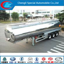 3 Axles Aluminum Alloy Fuel Tank Semi Trailer, 42000 Liters Fuel Tank Trailer, Aluminum Alloy Fuel Tanker Semi Trailer