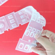 Clavier antipoussière transparent de silicone antipoussière