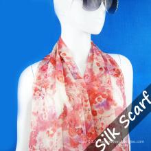 Nouveau Design longue écharpe en soie pour Lady