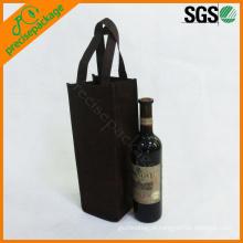sacola barata reusável do suporte de garrafa do vinho do eco
