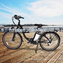"""2017 de moda 26 """"bici eléctrica de la bicicleta e de la ciudad del poder del verde de la bici 36V con el CE"""
