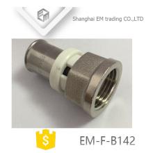 EM-F-B142 Reducer female union for pex al pex brass forged Press socket fitting