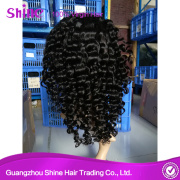Peruvian Curly Human Hair Full Lace Wigs