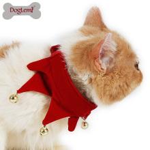 Presente de natal para animais de estimação do natal do traje do animal de estimação filhote de cachorro do gato Jingling Bell cachecol bandana