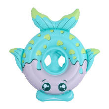 Blue fish shaped baby inflatable seat