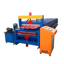 2017 Karton Messe Hebei Xinnuo Doppelschicht Stahl Ziegel Dachbleche Making Maschine Für Verkauf