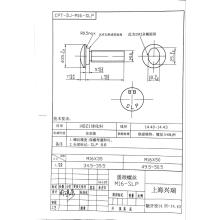 5/8 boulons de rail de protection HDG plaqué Boulon de voie Boulon de rail de protection