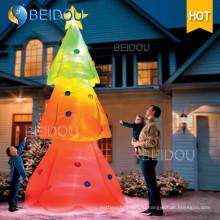 Гигантские светодиодные красочные освещения партии Украшение надувной Рождественская елка