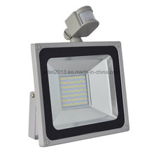 Оптовая 100 Вт Датчик движения pir SMD светодиодные Прожектор Открытый Водонепроницаемый пятно света