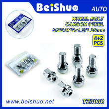 4+1 PCS Wheel Lock Bolt Set for Wheel Security
