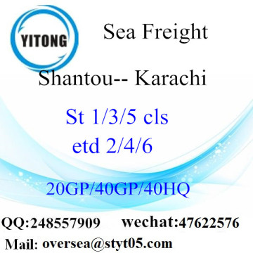 Shantou Port Sea Freight Shipping ke Karachi