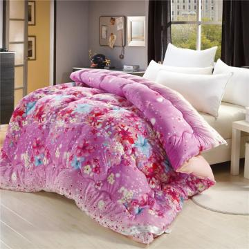 Microfibre Polyester Brushed Soft Dyed Printed  Comforter Set