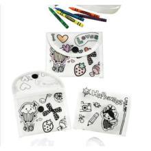 Materiais de pintura de DIY para fazer sacos de bolsa para pastelaria não tecido