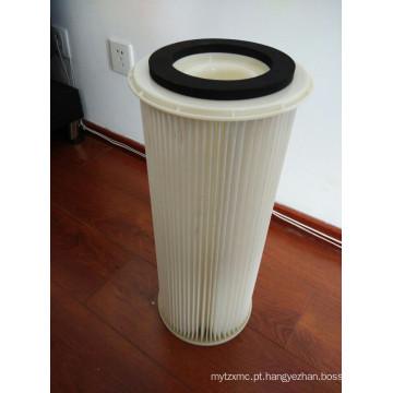 Cartucho de filtro de ar plissado poliéster ligado girado Tr Amano
