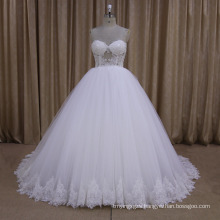 Sexy Beaded Sweetheart Ball Gown Wedding Dress 2016