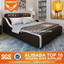 meubles modernes de chambre à coucher en bois de maison, meubles de chambre à coucher de porcelaine