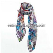 Fabrication d'écharpes en soie imprimée OEM