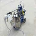 Double 25L Bucket Portable Milking Machine untuk Domba / Kambing